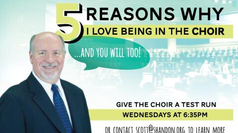 5 Reasons I Love the Choir - Ron